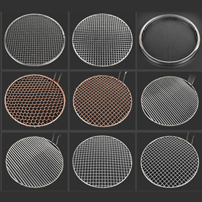 Stainless steel reinforced round grill mesh grill mesh commercial household grill screen lianzi pizza