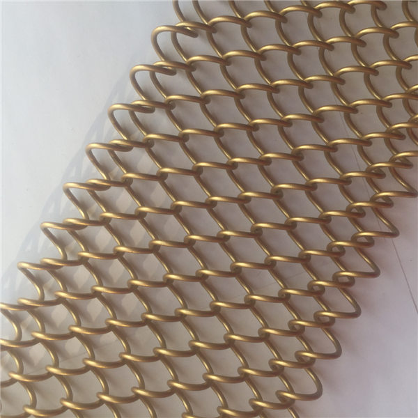 Metal Chain Link Mesh Cascade Coil Drapery Woven Wire Mesh